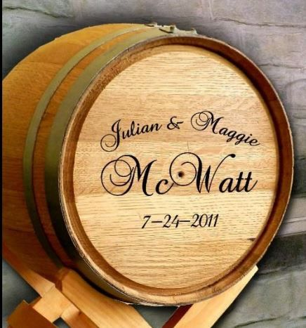 Wedding Wine Barrel Card Holder By Blcustomcreations On Etsy
