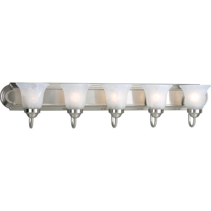 Progress Lighting P3055 Builder Bath Series Five Light Bath Bar