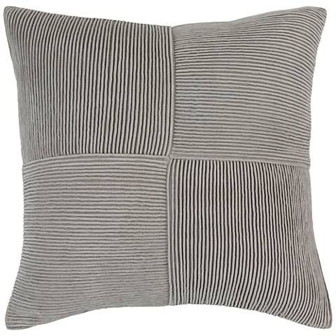 A Textured Gray Throw Pillow Crafted In Soft And Breathable 100 Percent Cotton Material Throw Pillows Modern Throw Pillows Square Throw Pillow