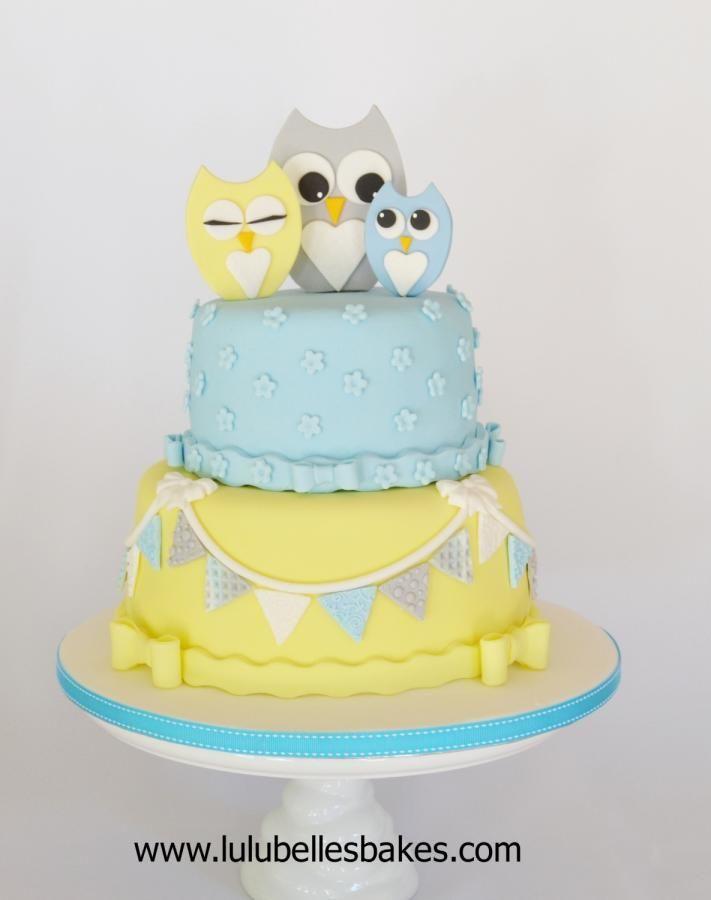 Owl Baby Shower Cake Cake By Lulubelle S Bakes Owl Baby Shower