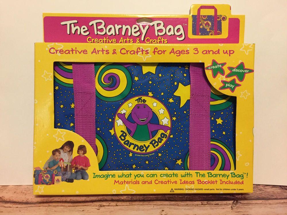 the barney bag 1994 creative arts crafts nib complete barney
