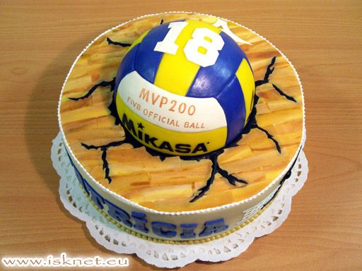 Stupendous Volleyball Cake With Volleyball Cakes Volleyball Birthday Cakes Personalised Birthday Cards Arneslily Jamesorg