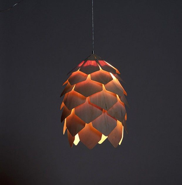 Contemporary Hanging Lamp Design of Crimean Pinecone by