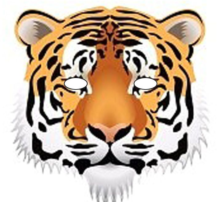 graphic relating to Printable Tiger Mask named Topic SAFARI MEME PAS PEUR..!!! - 1 et 2 et 3 DOUDOUS