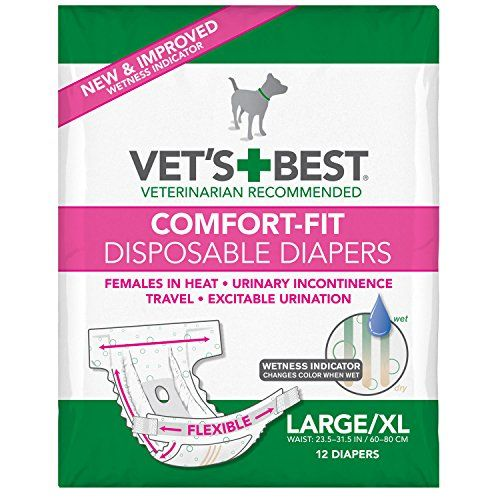 Dog Diapers Vets Best Comfort Fit Disposable Female Diapers 12 Count Largexlarge Details Can Be Found By Dog Diapers Female Dog Diapers Dog Diapers Male