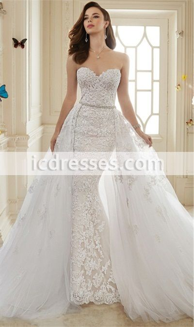 Detachable Skirt Wedding Dress Trains