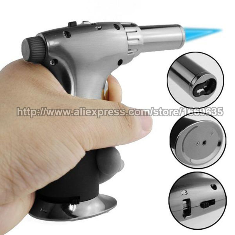 Jet Torch Gun Lighter Welding Adjustable Flame Windproof Butane Refillable Gas