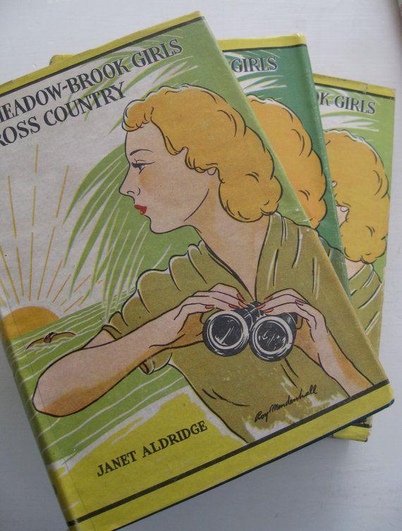 Janet Aldridge Meadow Brook Girls Book Set by paprikarose on Etsy, $48.00