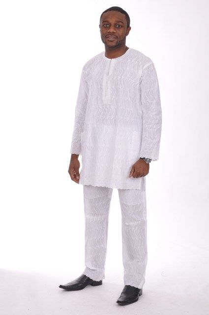 d277585517f All-White Lace Dashiki Top with Pants-DP3328