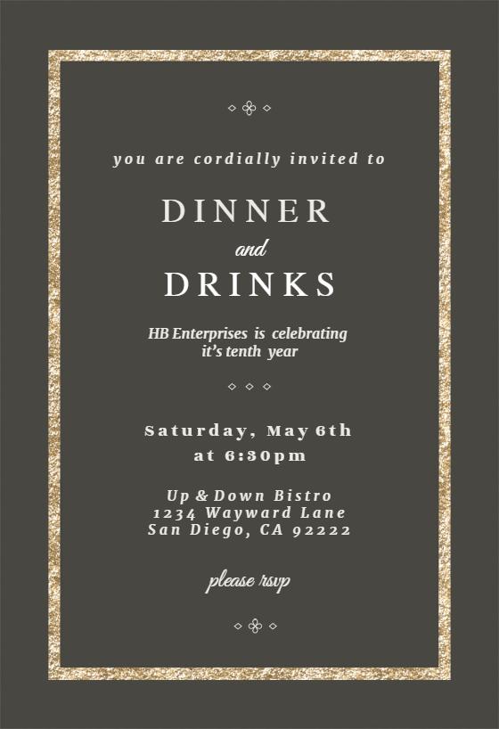 Elegant Gold Dinner Party Invitation Template Free Greetings Island Dinner Invitation Template Business Events Invitation Dinner Party Invitations