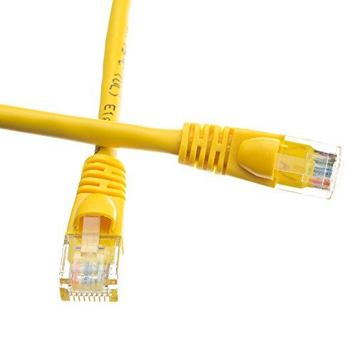Cables Unlimited Snagless Molded Boot Cat6 Patch Cable 1 Feet Yellow