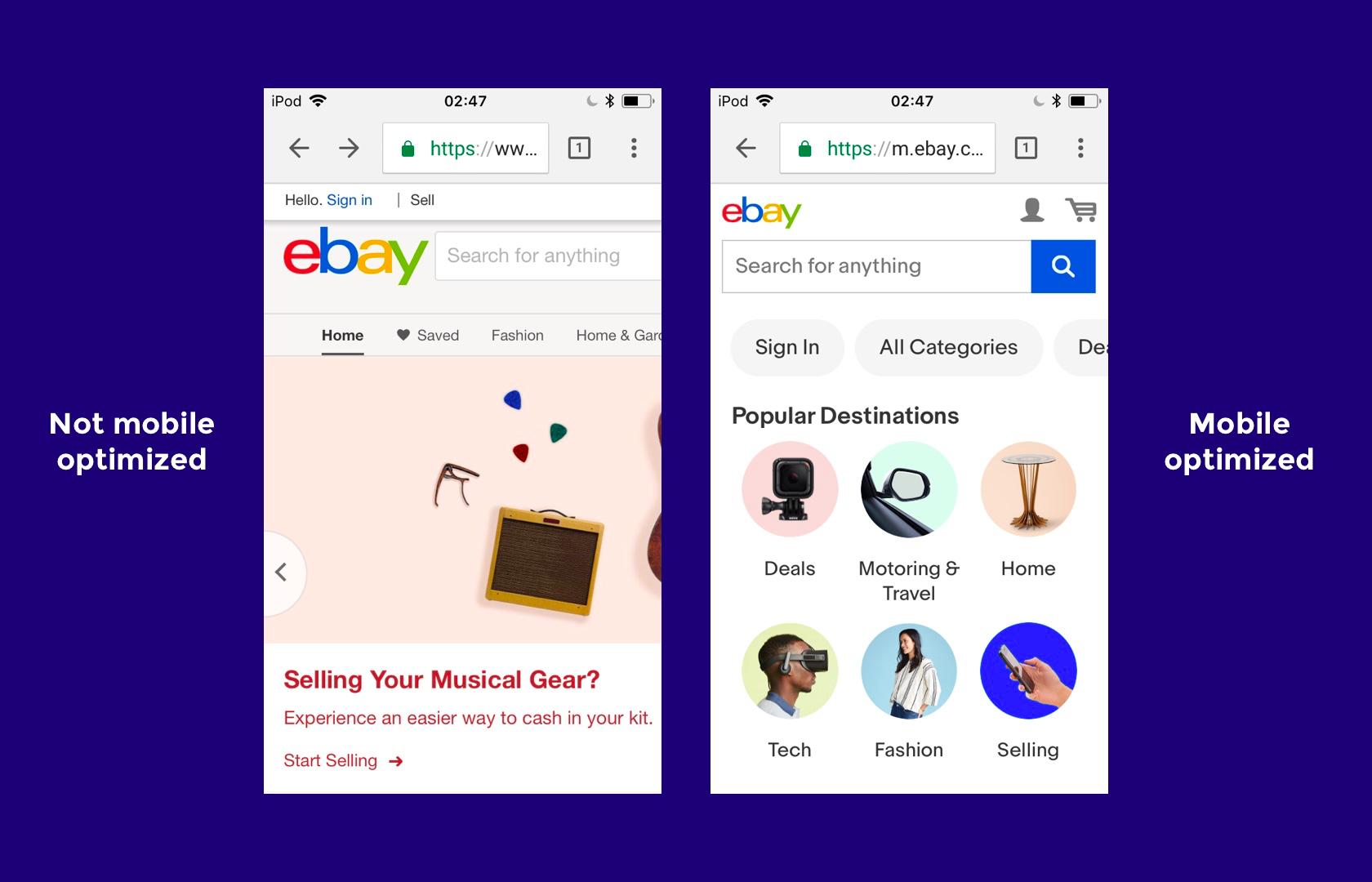 Ebay A Responsive Web Design Example Responsive Web Design Examples Responsive Design Design