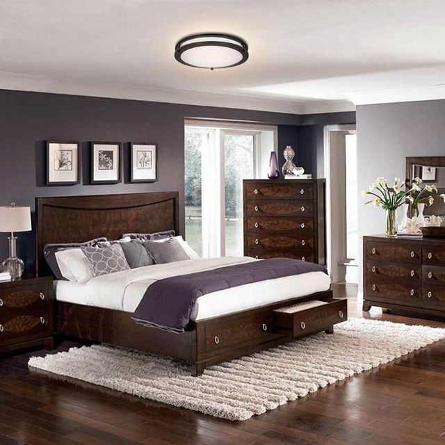 Amazon Com Lb72121 12 Inch Led Flush Mount Ceiling Light Oil Rubbed Bronze 4000k Cool White 1 Brown Furniture Bedroom Remodel Bedroom Master Bedroom Colors