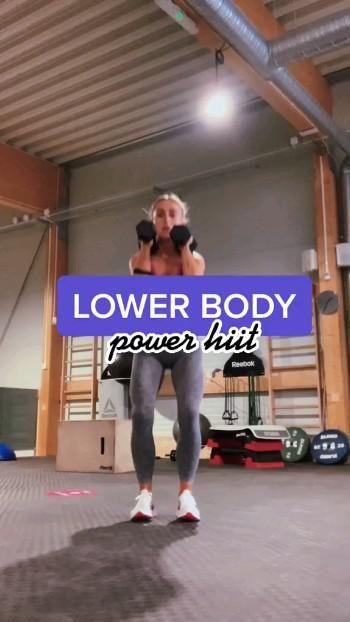 lower body: power hiit