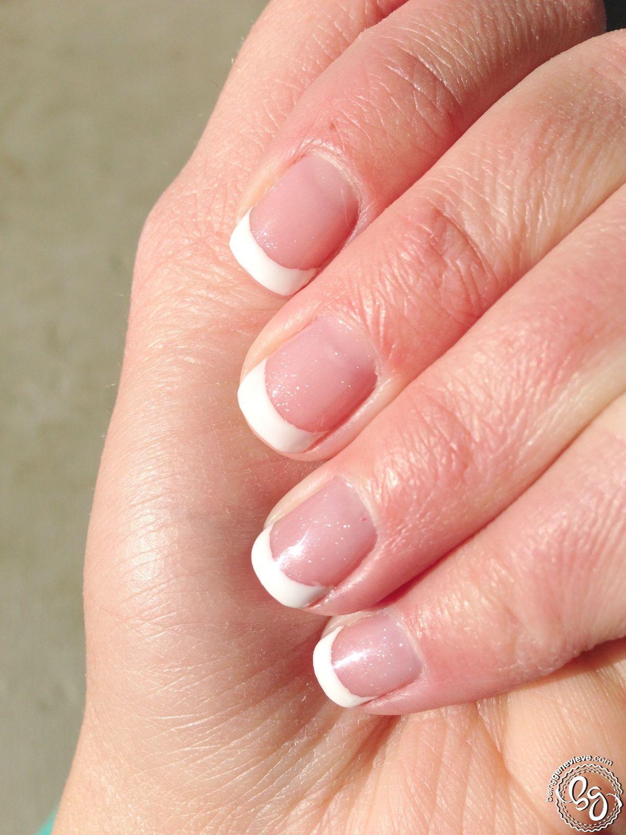 French Tips Hair, nails, Gel nails, Nail polish