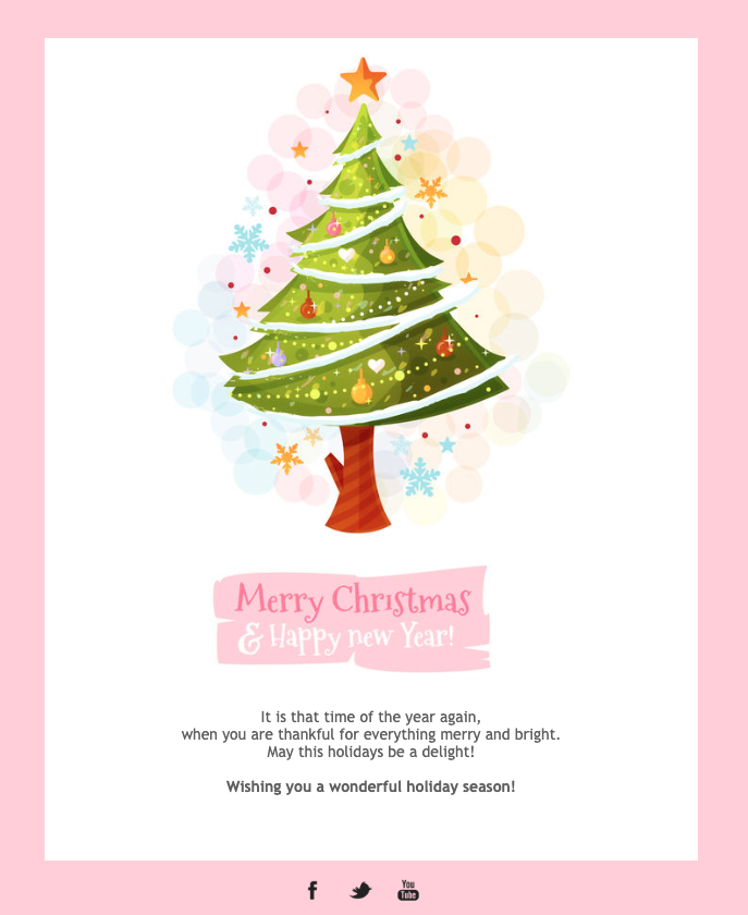 Christmas Card Email Template Email Christmas Cards Email Design Inspiration Merry Christmas And Happy New Year