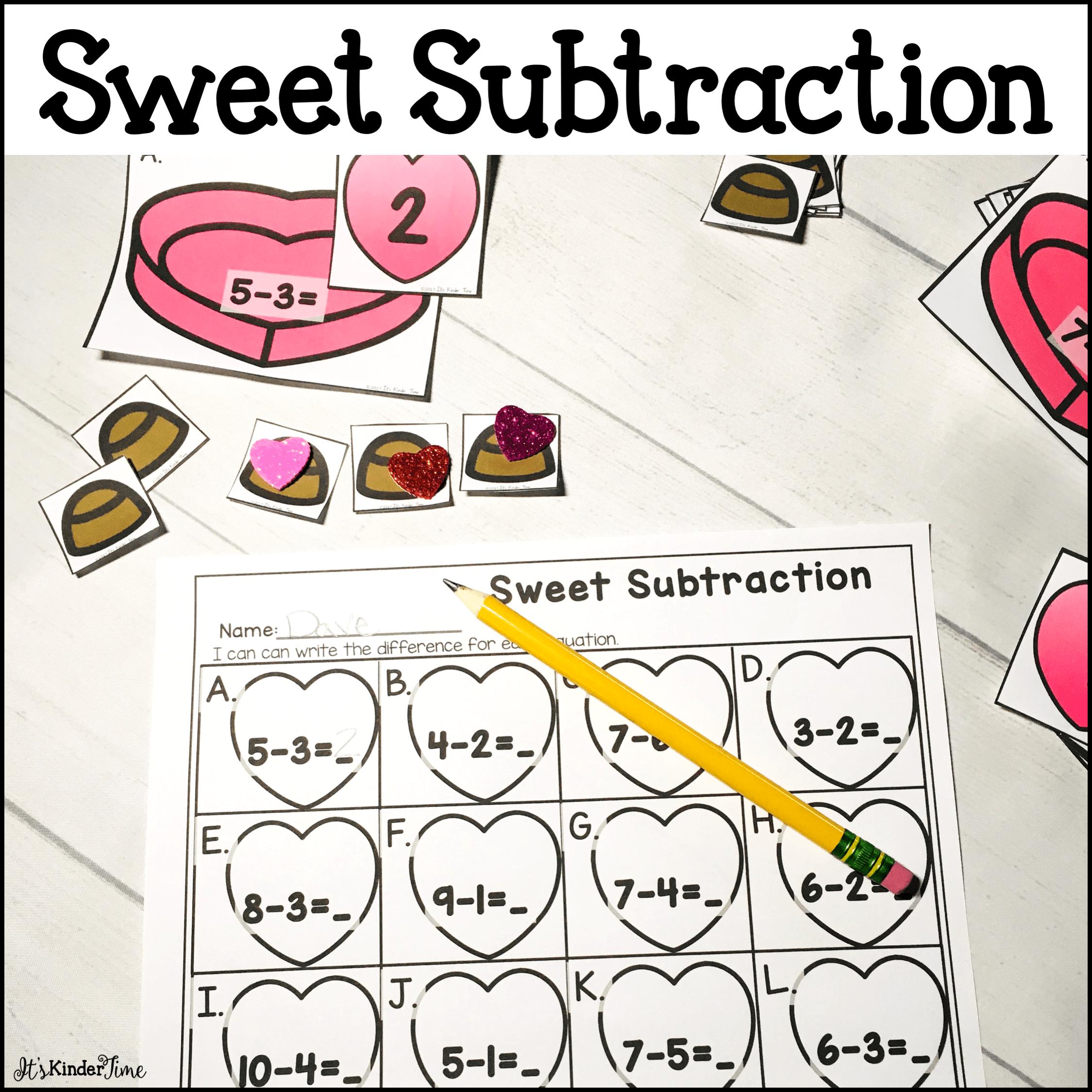 Sweet Subtraction Subtraction Practice