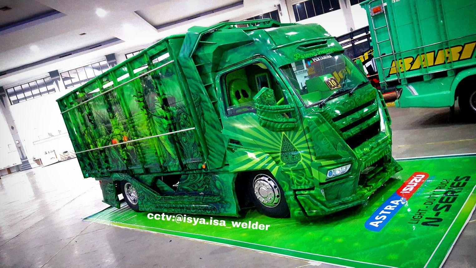 Truck Elf Modifikasi Buto Ijo Truk Oleng Trucks Car Drawings