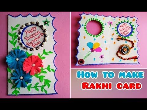 | DIY How To Make Rakhi Card | How To Make Raksha Bandhan Card Using Waste Invitation card.