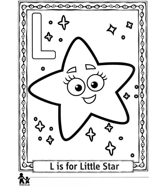 Kleurplaten Kleuren Dora.Kids N Fun Kleurplaat Doras Alfabet L Little Star Kleine