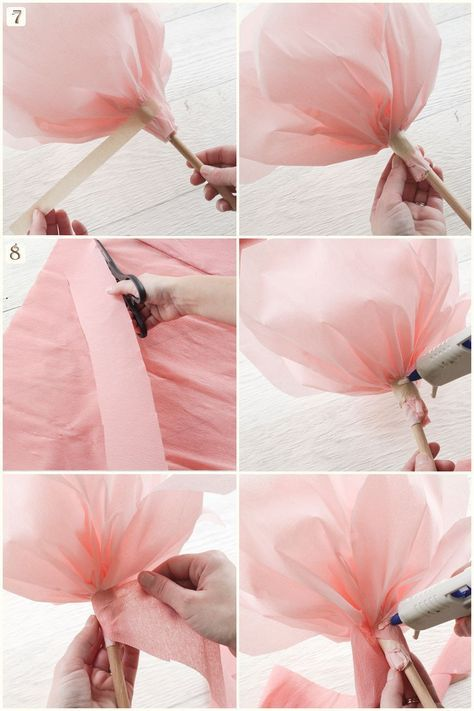 Tutorial: Make Giant Paper Flowers #giantpaperflowers