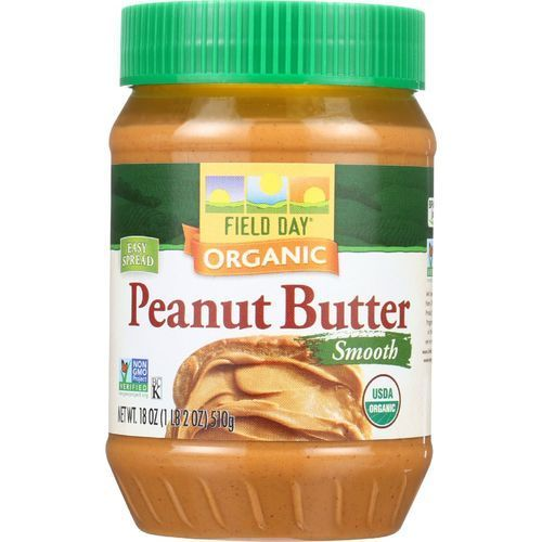 Field Day Peanut Butter - Organic - Smooth - Salted - 18 oz - case of 12