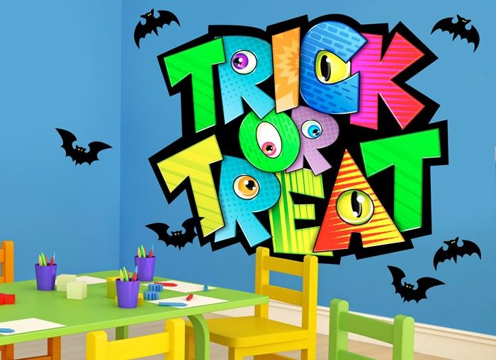 Decorate your home this Halloween with a spooky holiday wall decal - how to decorate home for halloween