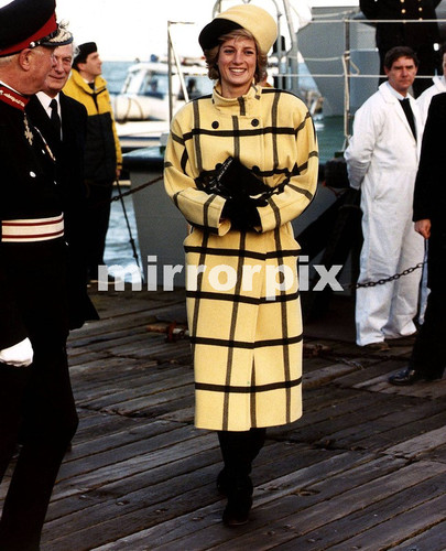 December 6 1988 Diana named a Protector Class Customs and Excise vessel at the Fairey Marinteknik Shipyard, Cowes, Isle of Wight