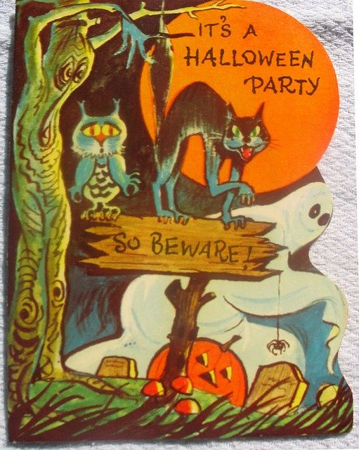 Vintage Halloween Card Things
