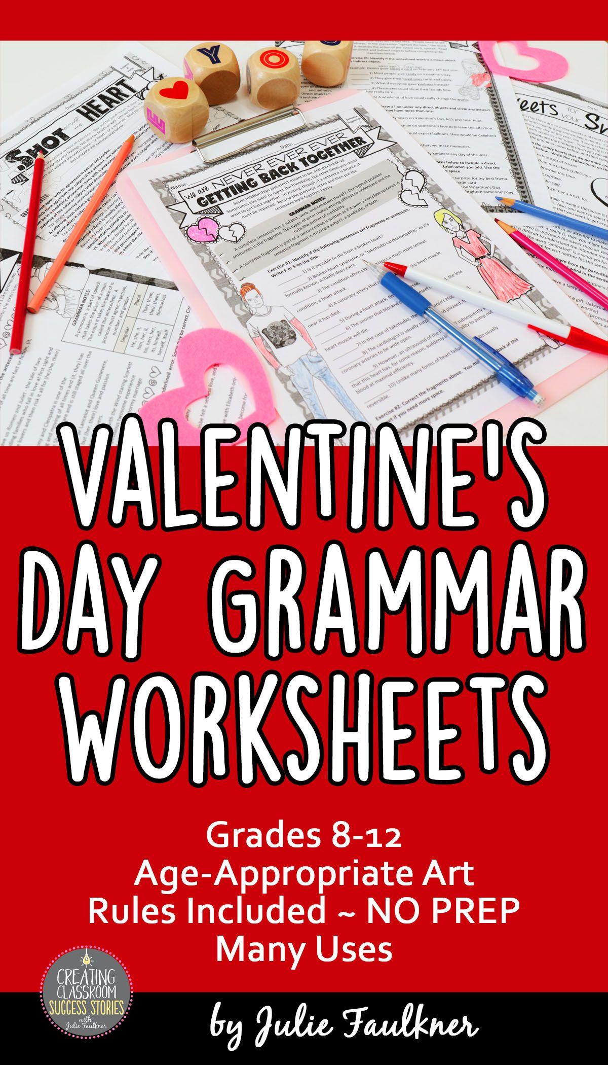 Valentine S Day Grammar Worksheets Activities For Teens Grammar Worksheets Teaching Teens [ 2100 x 1200 Pixel ]