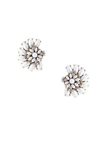 f54321904 olive + piper Luxe Cluster Stud Statement Earrings - Pearl and Taupe ...