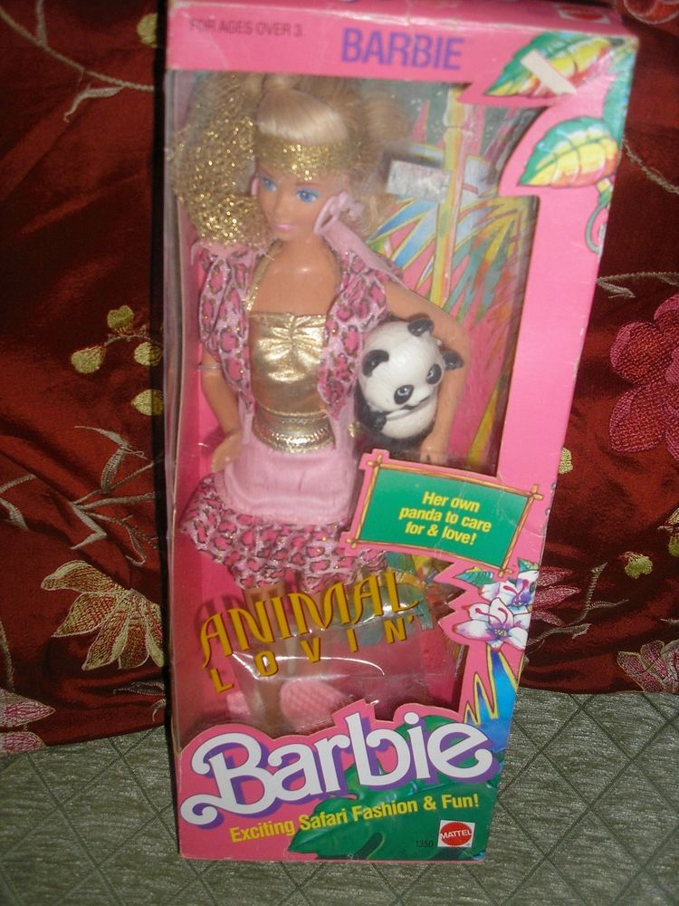 Vintage 1988 Animal Lovin Barbie #1350 Her own Panda to Care For NRFB #Mattel #DollswithClothingAccessories