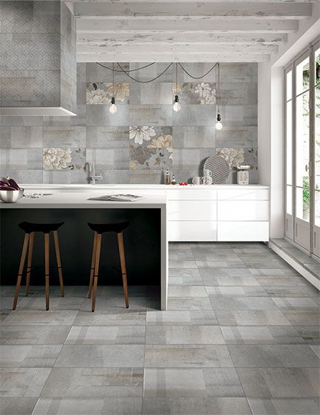 Kajaria Glazed Porcelain Tile Modern And Contemporary Tiles In A Natural Stone Finish Kitchen Tiles Design Elegant Tile Flooring Floor Tile Design