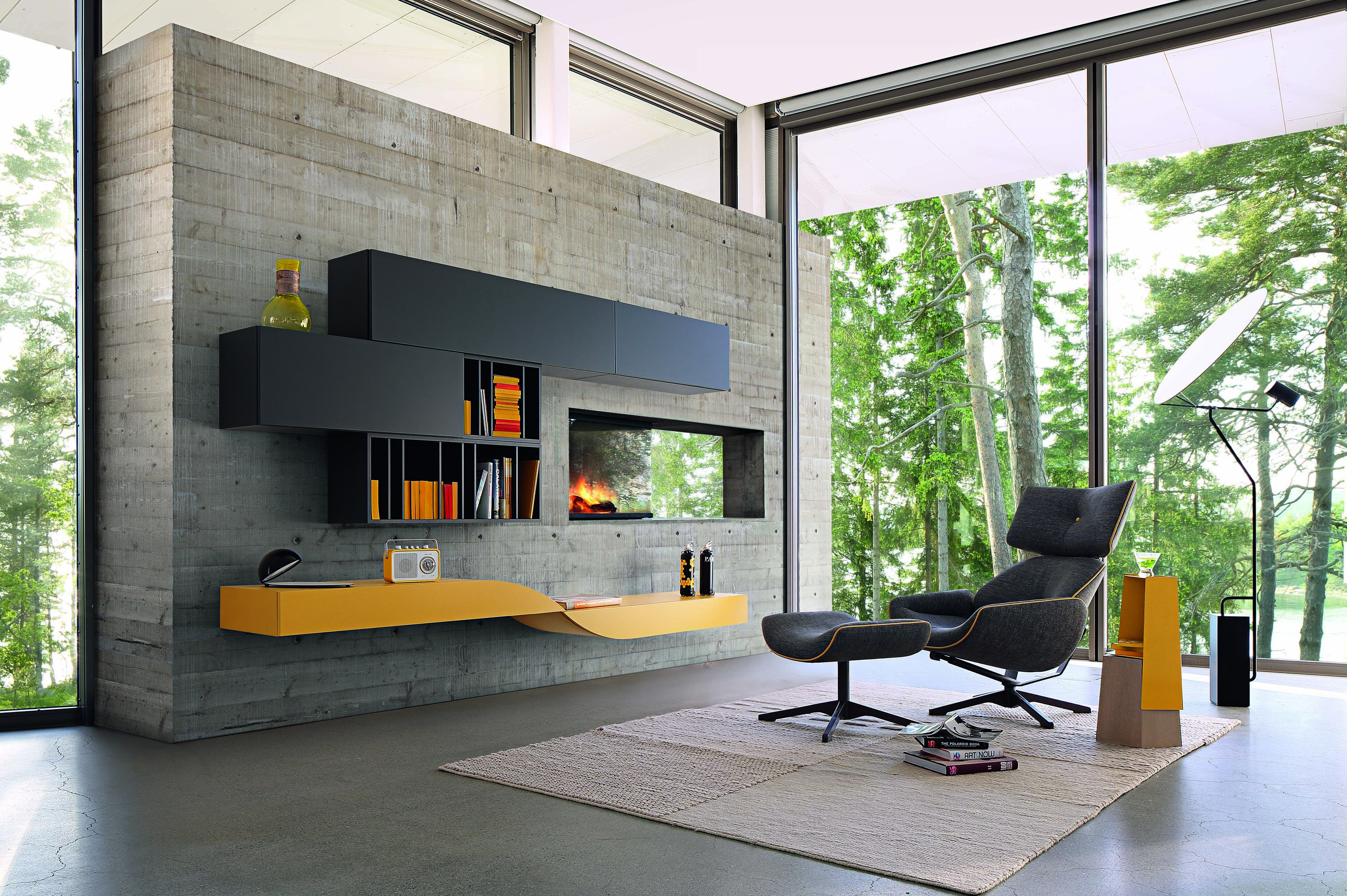 Roche Bobois Intralatina Wall Unit Design Marelli Molteni Rochebobois Contemporary Design Small Space Living Room Modular Walls Living Room Wall Units
