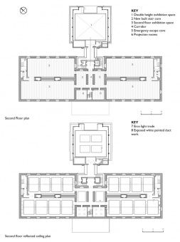 Saatchi Gallery Second floor plan and reflected ceiling plan ...