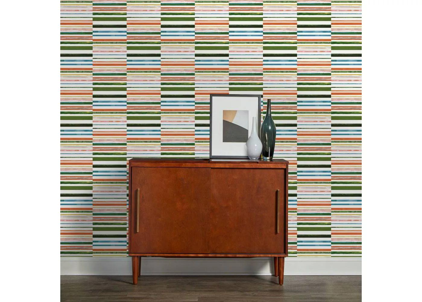 Colored Stripes Wallpaper Opalhouse Striped Wallpaper Wallpaper Self Adhesive Wallpaper