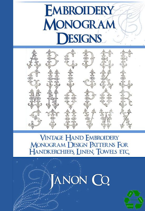 Vintage Hand Embroidery Monogram Design Patterns 100s Of Designs 66