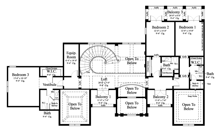 The Winward Court Home Plan House Plans Luxury House Plans How To Plan