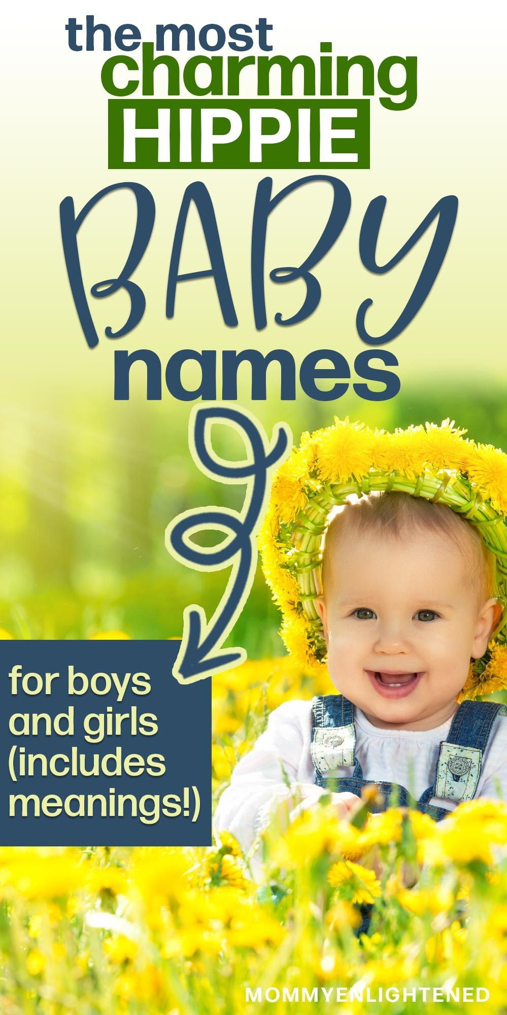 110+ Hippie Names for Boys & Girls (includes meanings and