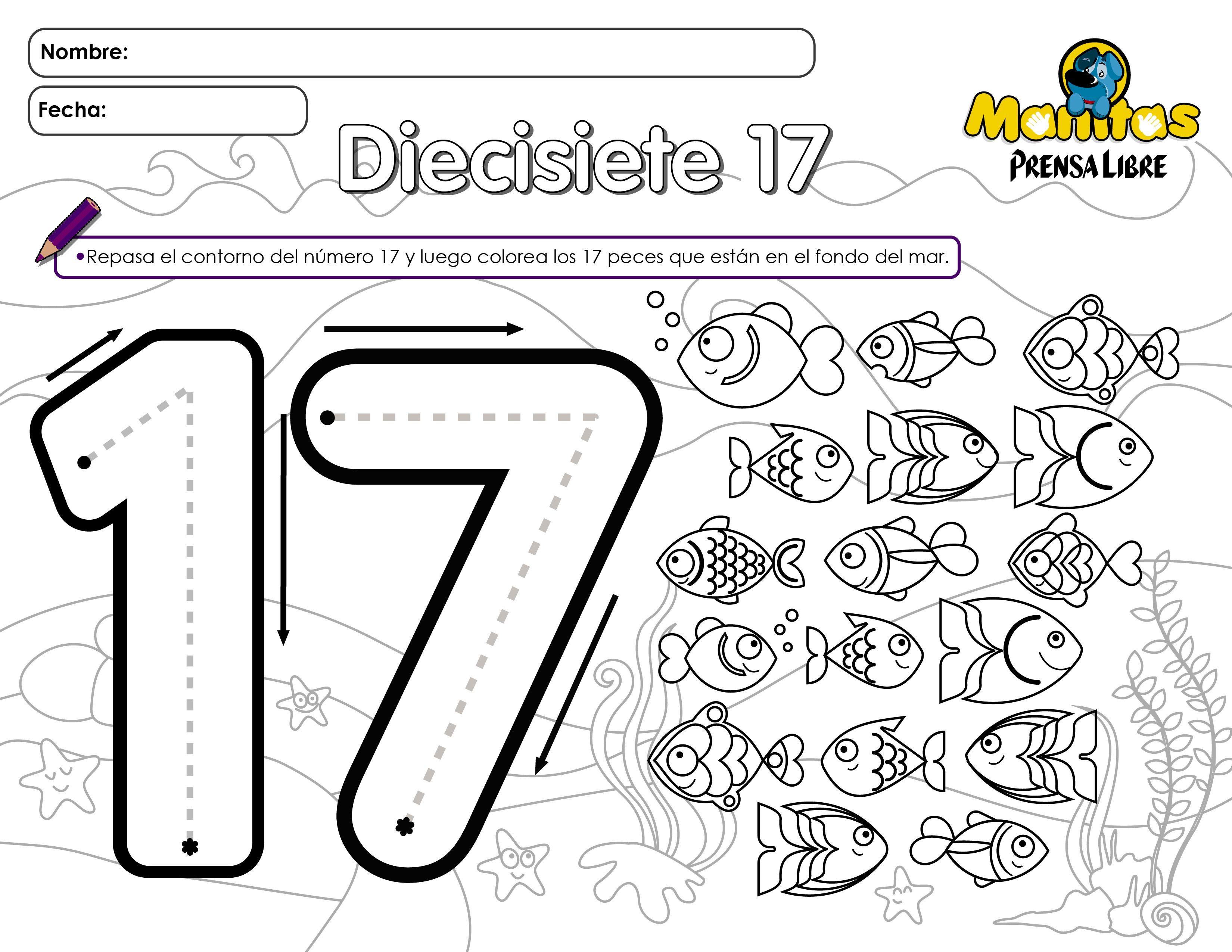 Número 17 Hago Mi Tareahago Mi Tarea Actividades De Letras Actividades Escolares Actividades Para Preescolar