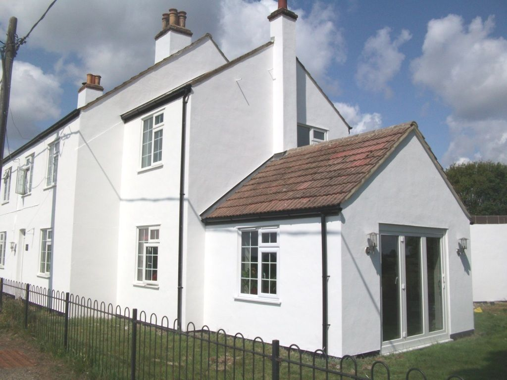 The House Is Now Rendered And Protected With A Fine Textured Masonry Coating