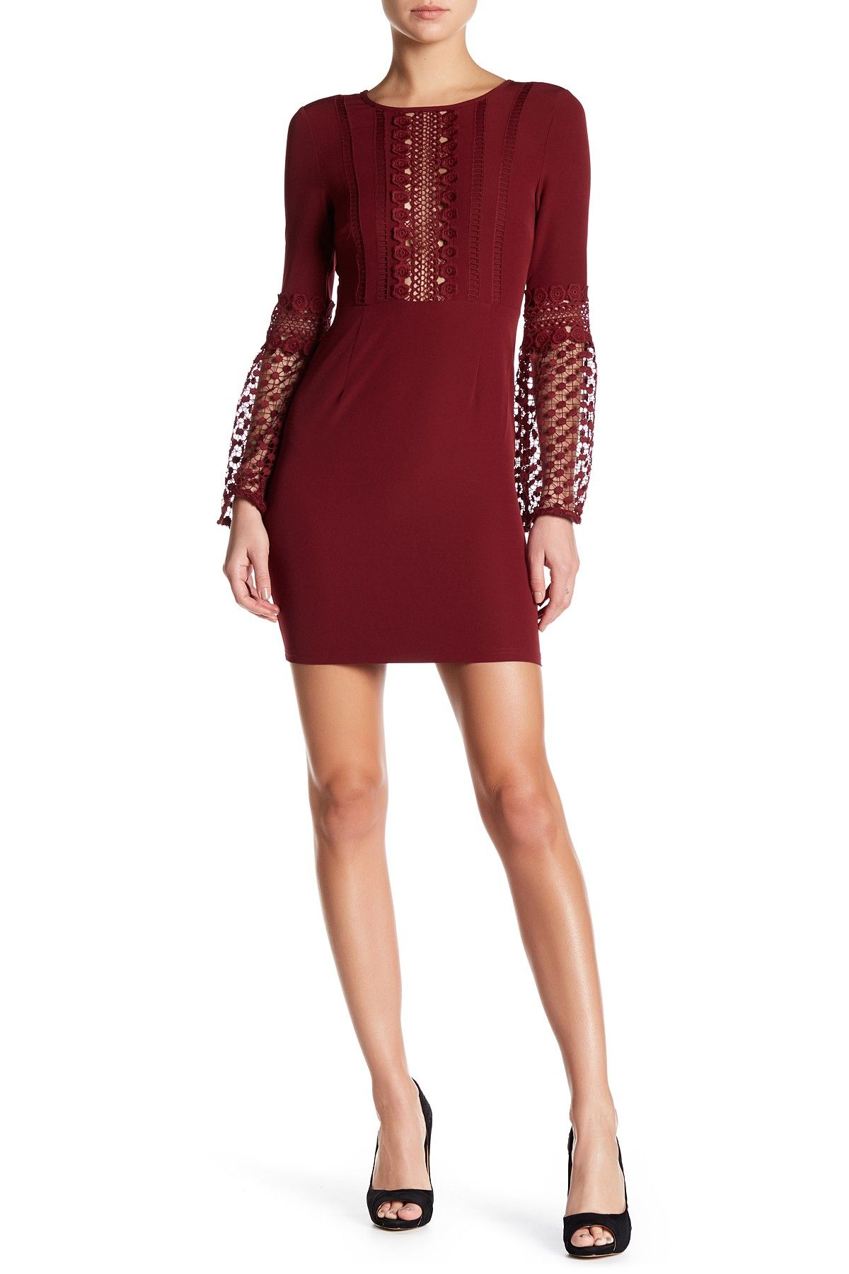 Romeo u juliet couture bell sleeve woven dress free shipping and
