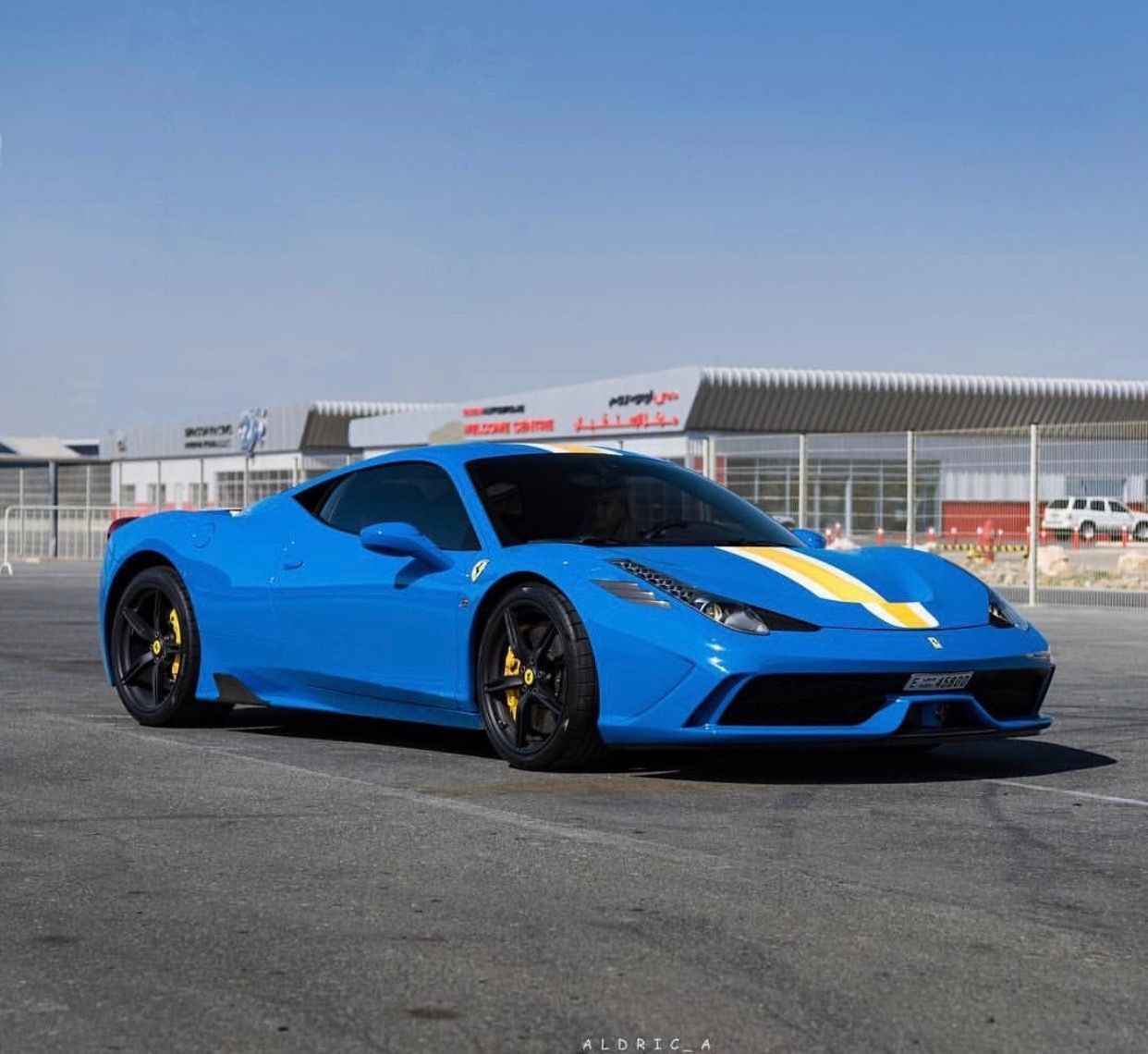 Ferrari 458 Speciale Painted In Azzurro Dino W White Yellow