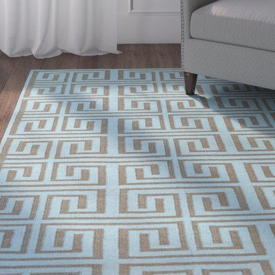 Charlton Home Larksville Geometric Handwoven Denim Charcoal Area Rug Area Rugs Rug Shapes Charlton Home