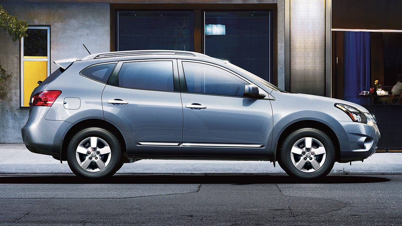 2015 Nissan Rogue Select Crossover Side View In Frosted Steel New
