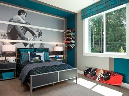 Dormitorio para chicos adolescentes pinterest for Decoracion habitacion juvenil nino