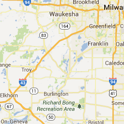 West Bend Wi To Richard Bong Recreation Area Google Maps Oh The