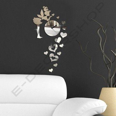 Lovely Moderne Spiegel Wanduhr Design Wandtattoo Dekoration eBay