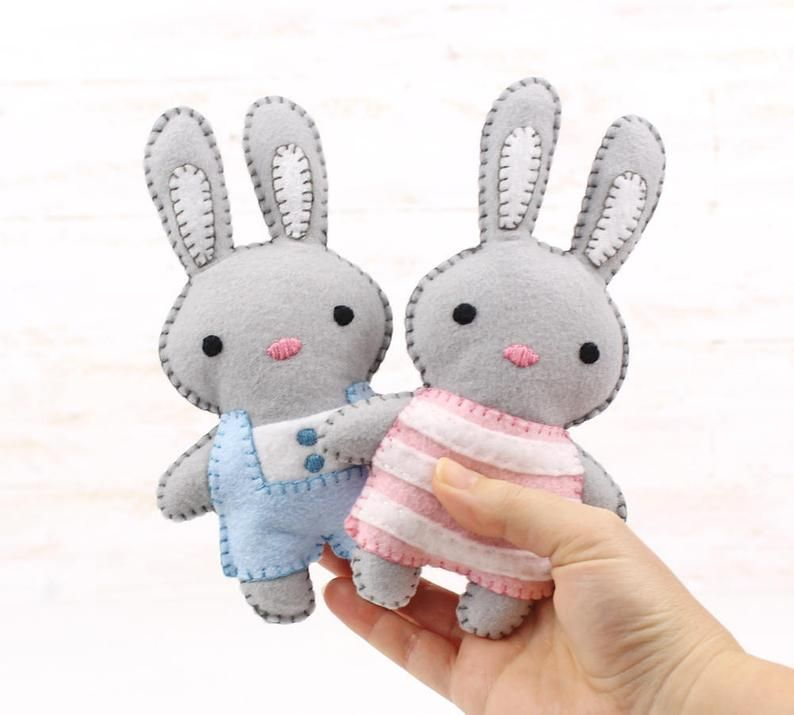 Bunny Rabbit Sewing Pattern Felt Bunnies Sew Your Own Plush