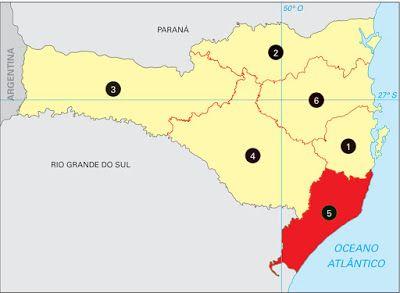 Santa Catarina - Conheça seu Estado (História e Geografia): 17 - Sul Catarinense (Mesorregião)